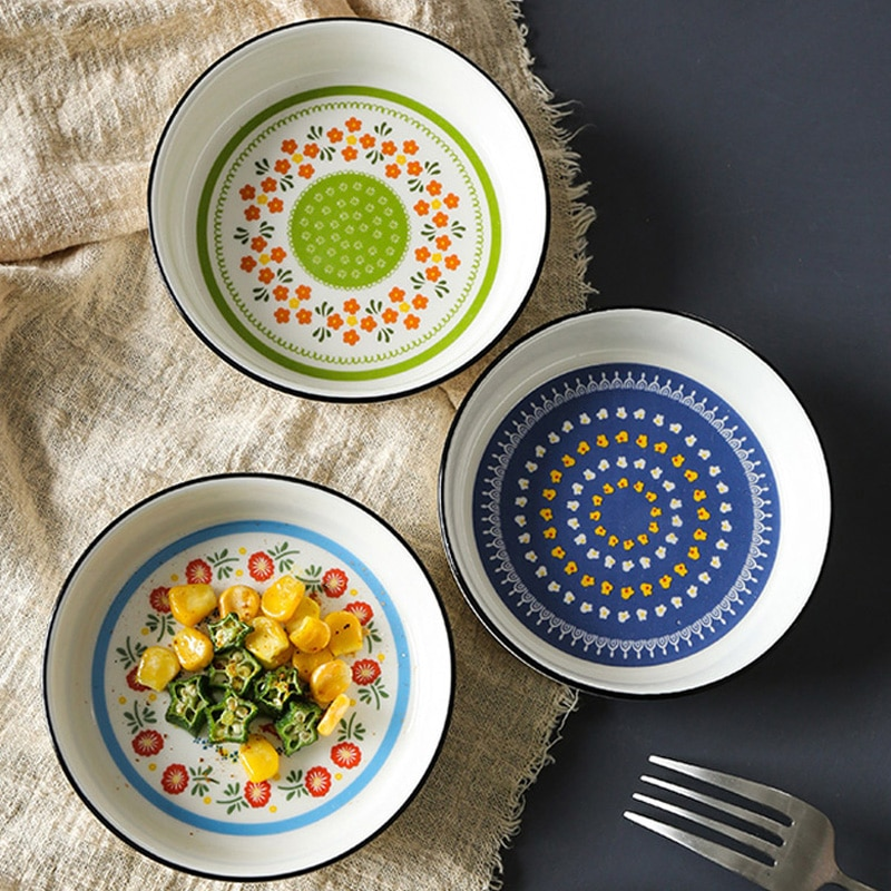 1P Ceramic Sauce Bowl Cute Sauce Dish Mini Soy Sauce Dish Vinegar Seasoning Plate Dip Bowl Small Dessert Fruit Plate Tableware