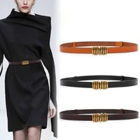 new real cow leather belts for jeans thin adjust genuine leather waistband dress lady black cowskin cummerbunds coat party girls