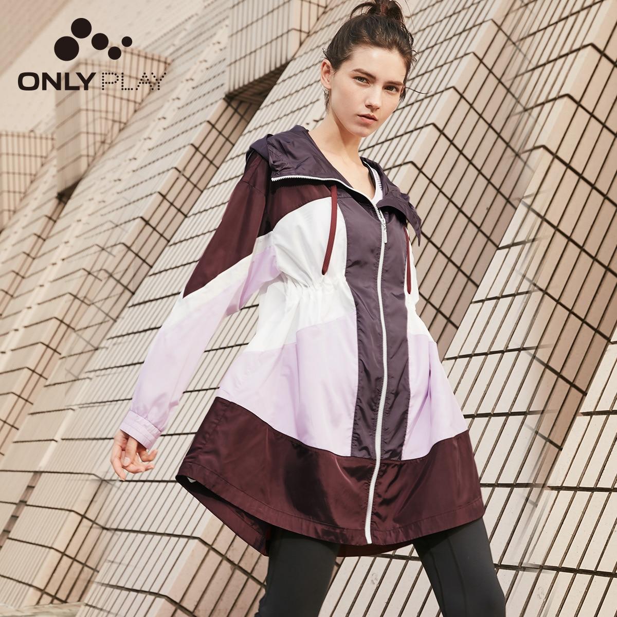 Sólo mujeres de longitud media con capucha con cordón Cinched cintura Trench Coat   119136578