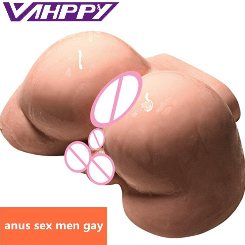 Мужской силиконовый большой мастурбатор VAHPPY, 2,5 кг, 3D настоящий анальный секс-кукла, секс-игрушка для геев, Мужской мастурбатор, секс-игрушки для мужчин, эротические игрушки JA309