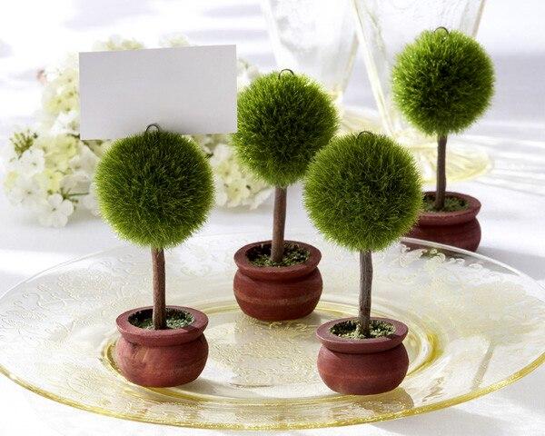 Favor de la boda Bola de Globo Verde Topiary foto titular/lugar titular de la tarjeta jardín fiesta al por mayor