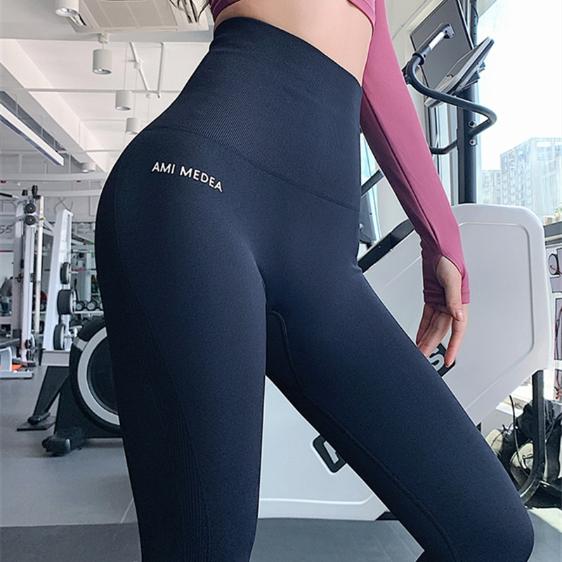Leggings Pantalones de mujer Push-Up gimnasio Sexy Control de la panza deporte Leggins pantalones de cintura alta Fitness Running Capri pantalones 2020