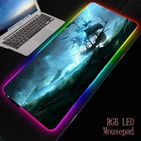 mrgbest lightning ship storm mouse pads sml rgb notebook keyboard pad accurate control softy play mat for games