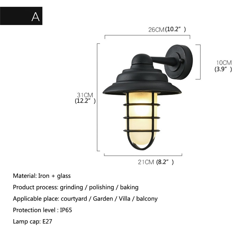 DLMH Retro Outdoor Wall Lamps Classical LED Lighting Waterproof IP65 Sconces For Home Porch Villa enlarge