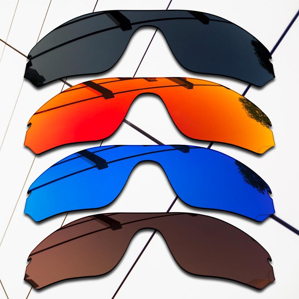 E.O.S 4 Pieces Black & Brown & Blue & Fire Red Polarized ReplacementLensesforOakleyRadar Edge OO9184 Sunglasses
