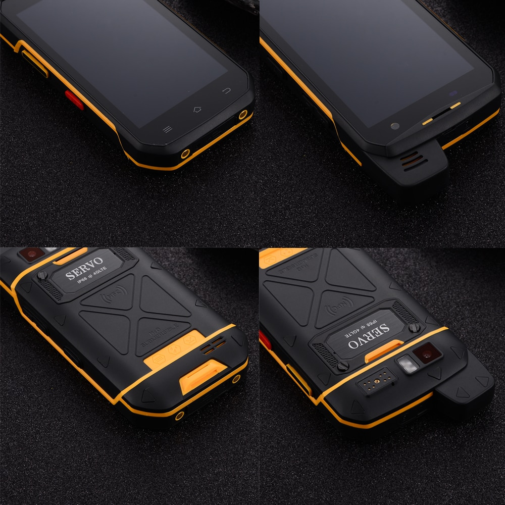 SERVO B6000 Smartphone MT6762V 4G 64GB Android 9.0 16MP 5000mAh IP68 Waterproof  LTE Rugged Phone Support Walkie Talkie NFC 5.0