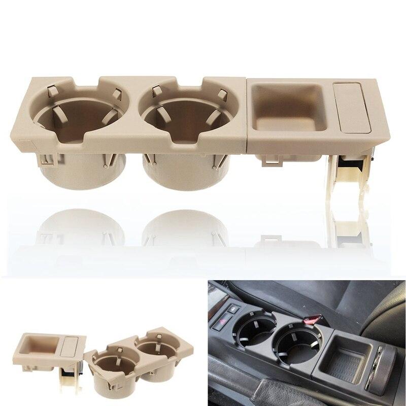 Compartimento central para coche Soporte para vasos botella de bebida soporte para monedas para Bmw 3 Series E46 318I 320I 98-06 51168217953 Beige