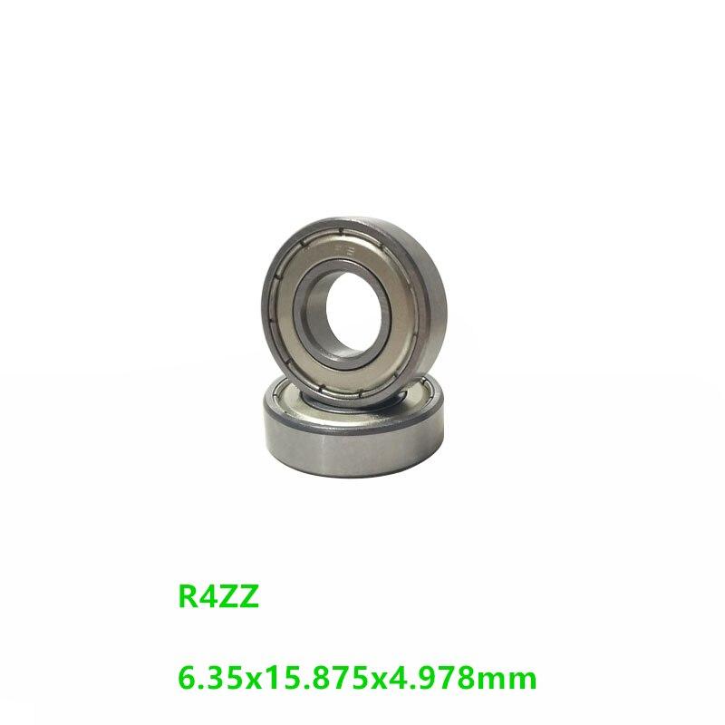 "500 unids/lote R4ZZ R4Z R4 ZZ Metal blindado 1/4 ""x 5/8"" x 0.196 ""pulgadas rodamiento de bolas de ranura profunda rodamiento de bolas 6,35x15.875x4.978mm"