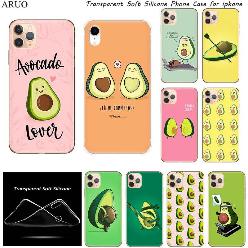 Phone Case for iphone 12 mini 11 Pro XS Max XR X 5 SE2020 8 7 6 Plus Cute Delicious Avocado Fashion