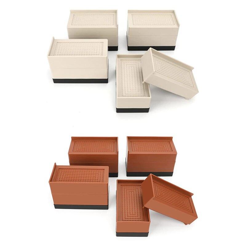 4 قطعة الأثاث الناهضون 3 بوصة السرير الأثاث الناهضون مكتب قابل للتعديل المصاعد الساق تمديدات للسرير الناهضون الجدول الأريكة كرسي