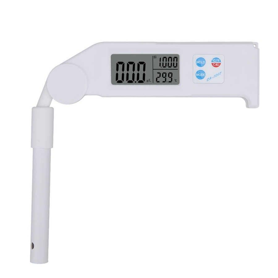 SA-1017 شاشة الكريستال السائل للطي الملوحة متر المحمولة درجة حرارة الملح اختبار الجاذبية النوعية
