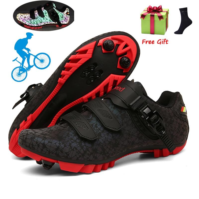 2021 Mtb Cycling Shoes Sneakers Men Mountain Bike Road Shoes Luminous Professional Ultralight Cycling Sneakers