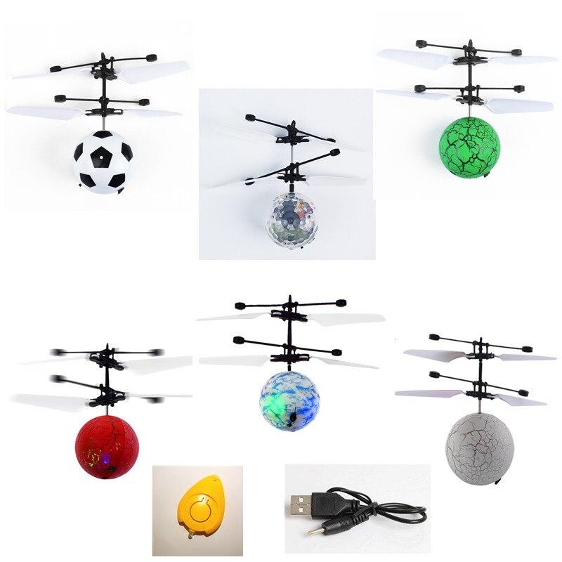 Bola cristal colorida Mini Drone brillante LED RC drone bola Luz de helicóptero de RC Quadcopter avión juguetes de los niños