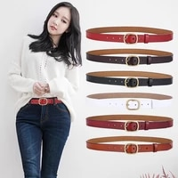 elegzo womens genuine leather belt high quality fashion leather jeans belt female pin buckle cowskin waistband hot selling