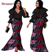 hitarget 2020 african bazin dresses for women african long sleeves dresses in african clothing wax dashiki fabric 6xl wy2376