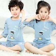 Pyjama dété pour enfants   Tenue de nuit à manches courtes pour filles, t-shirt-pantalon, ensemble de pyjama de dessin animé pour enfants, vêtements de nuit pour bébés garçons