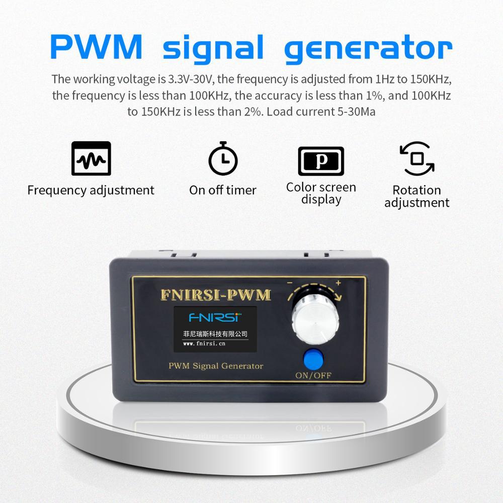 Generador de señal PWM 1 canal 1Hz-150KHz PWM módulo ajustable de ciclo de trabajo de frecuencia de pulso pantalla LCD