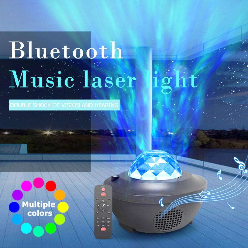 Galaxy Projektor Stern Nacht Lampe LED Laser Projektor Licht Bluetooth Musik-Player Fernbedienung Disco Bühne Lampe