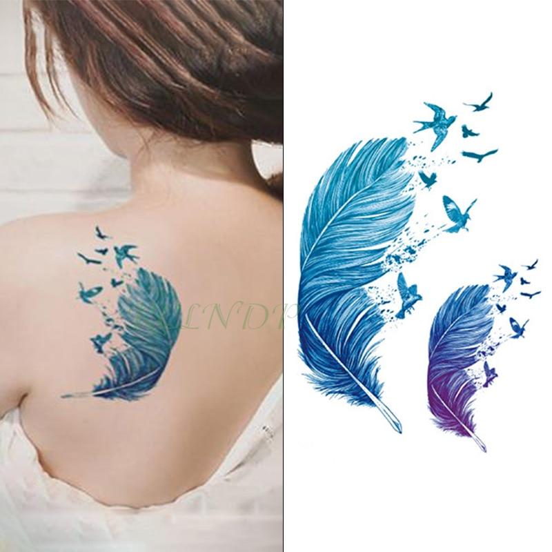 À prova ddanágua temporária tatuagem adesivo penas dandelion esquilo lótus carpa gatos dreamcatcher etiqueta flash tatoo falsa tatuagem 7