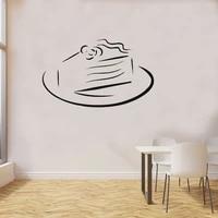 Gateau sucre sur une assiette  tarte danniversaire  cuisine  cafe  decoration de maison  autocollant mural en vinyle  decoration de chambre denfant amovible