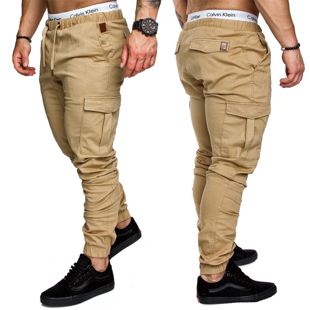 Мужские брюки, шаровары в стиле хип-хоп, джоггеры, брюки, новинка 2021, мужские брюки, мужские джоггеры, однотонные брюки с несколькими кармана...
