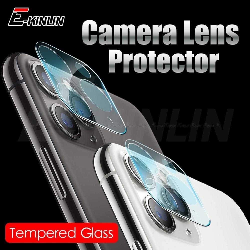 Para iPhone 11 Pro Max lente de cámara trasera para iPhone 11 XS X XR 8 7 Plus SE 2020 Protector de pantalla de vidrio templado película protectora