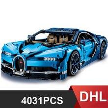 20086 20001 compatible 42056 42083 blue Bugatti or   Porsche supercar model toy birthday gift