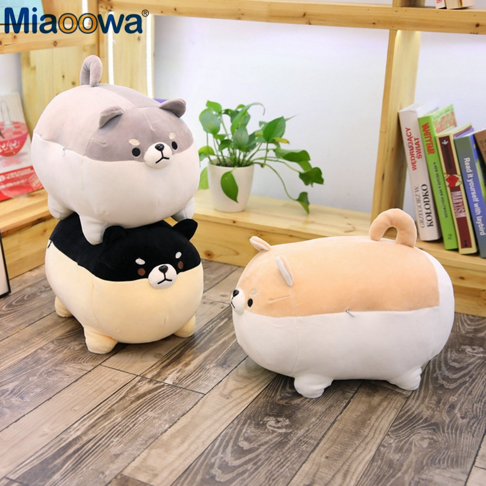 New 40/50cm Cute Shiba Inu Dog Plush Toy Stuffed Soft Animal Corgi Chai Pillow Christmas Gift for Ki
