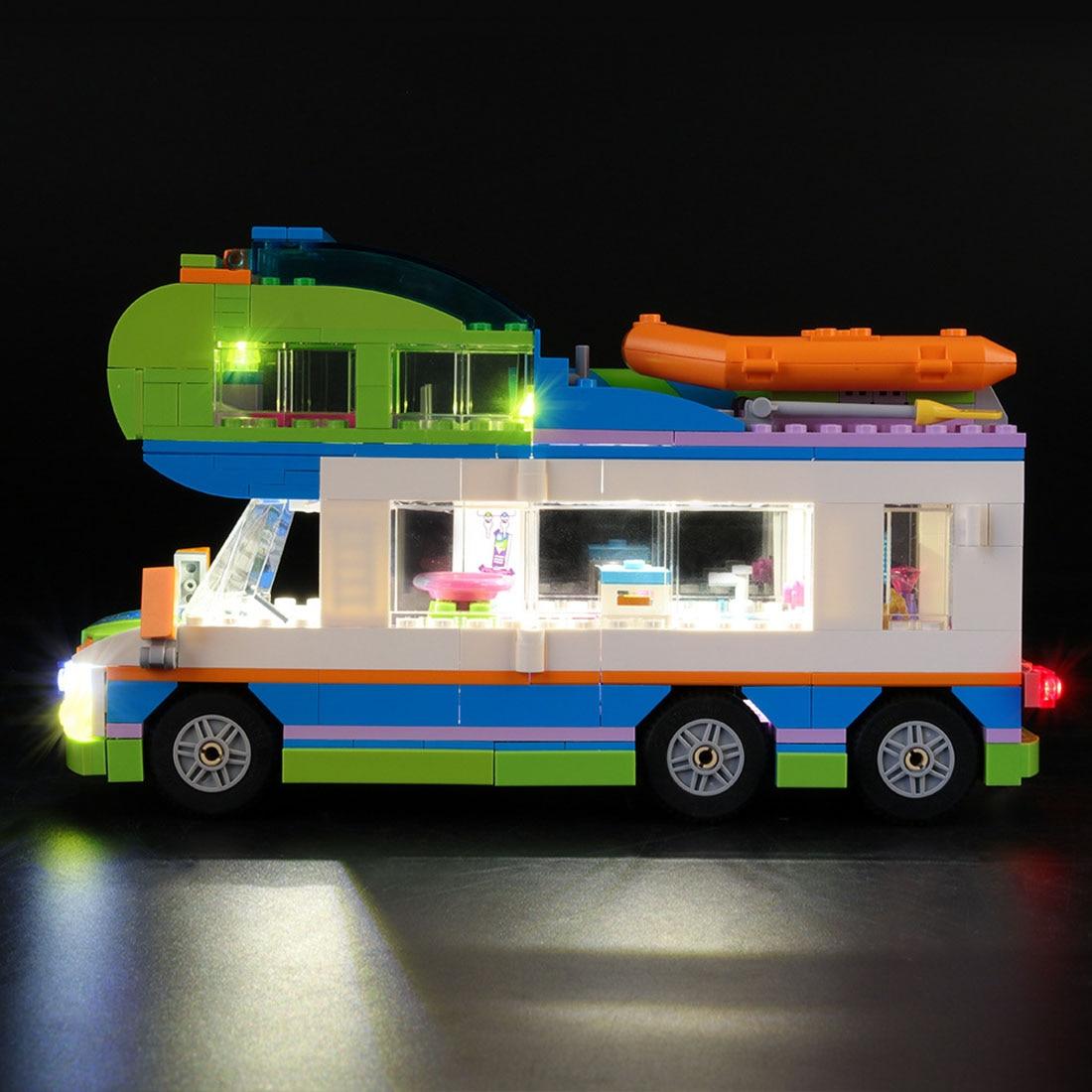 USB Powered LED Beleuchtung Kit für Freunde Mia der Camper Van 41339 (LED Enthalten Nur, Keine Kit)