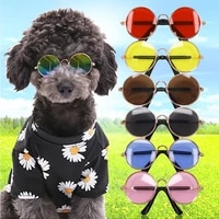cat sunglasses dog lovely vintage round eye wear glasses photos props headwear pet accessories