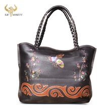 Hot Sale Genuine Leather Famous Brand Luxury Ladies Big Shopping handbag Shoulder bag Women Designer