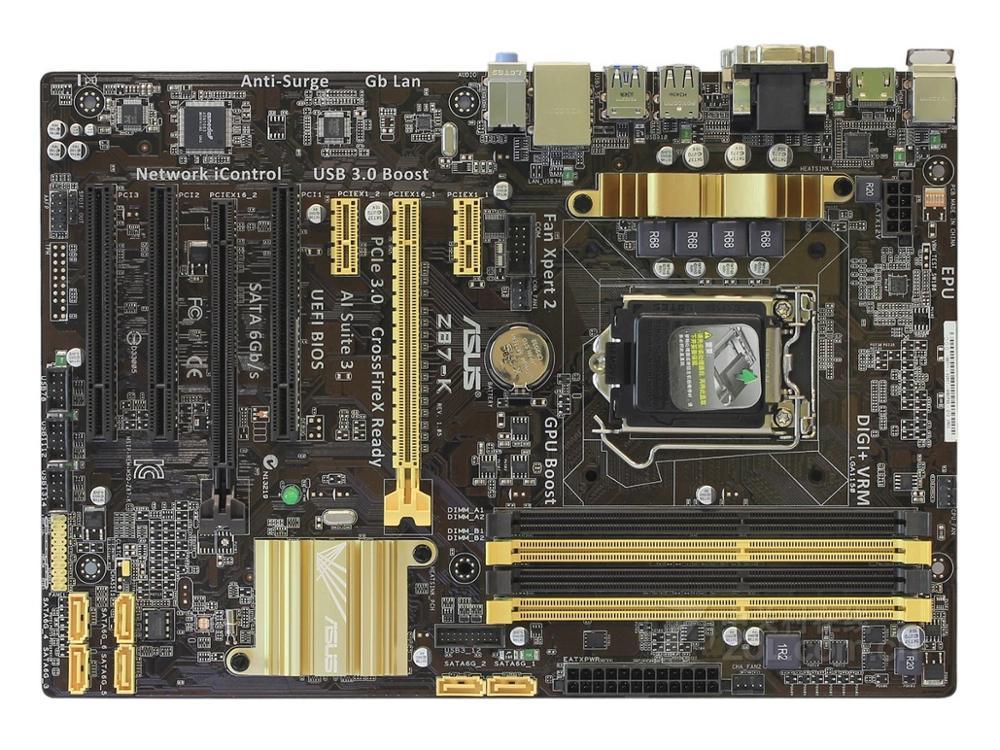 آسوس 1150 تستخدم اللوحة Z87-K DDR3 USB3.0 32GB حالة جيدة اختبار بالكامل