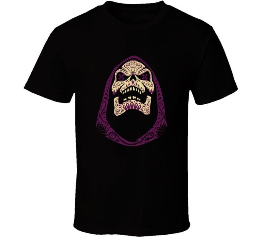 Camiseta Vintage con dibujo animado divertido camiseta Skeletor