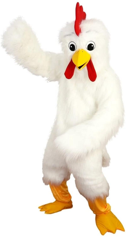 النسر الأبيض الطيور الدجاج زي شخصية كرتونية التميمة أفخم مع قناع للكبار تأثيري فستان هالوين حفلة حتى