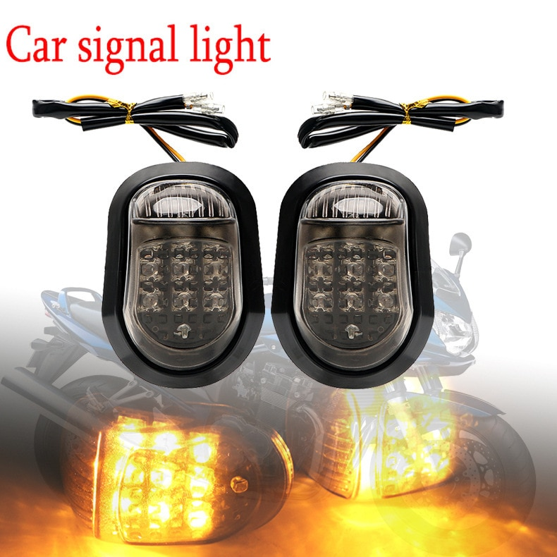 Applicable to Large Displacement Motorcycle Road Races Motorcycle Modification Turn Signal Indicator 9led Yellow Turn Signal