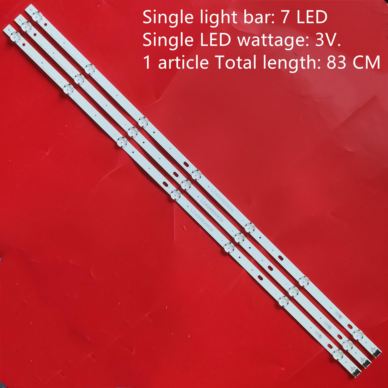 Nova 30 PCS 7LED 830 milímetros tira conduzida luz de fundo para LG 43LJ5500 43UJ6300 LC43490062A LC43490063A LC43490064A LC43490060A