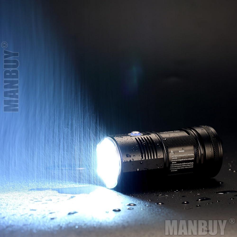 lanterna led nitecore 4000 lumens tm06s lanterna estampada com 3 led sem 18650 lanterna