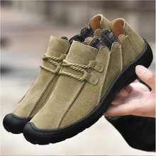 Y-32 Men Shoes Leather Casual High Quality Loafers Breathable Flats Soft Light Shoes Fashion Men's o