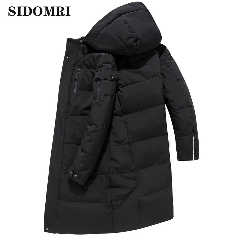 Mens jacket 90% white duck down coat  extra-thick outdoor down jacket for middle-aged and elderly men warm jacket