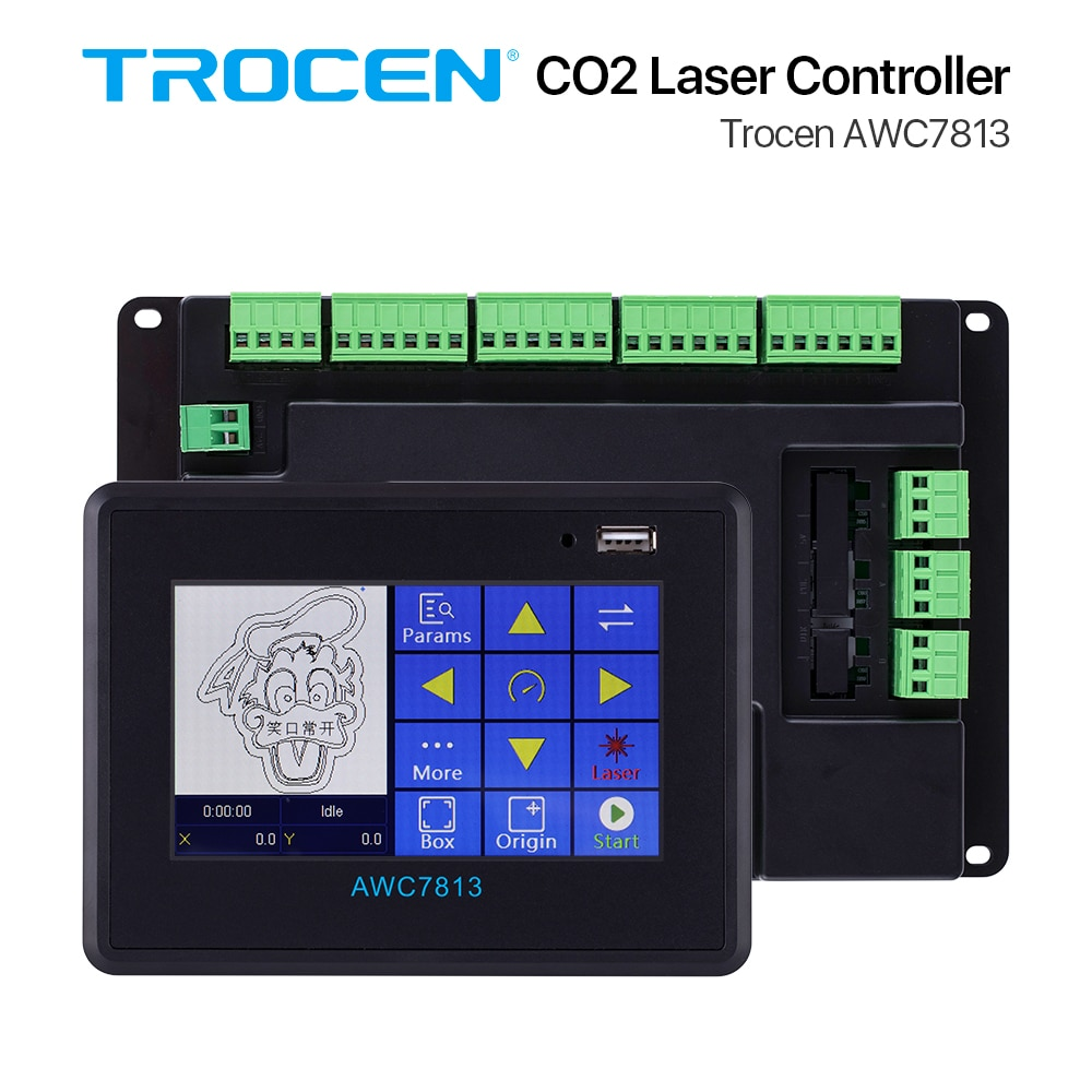 Trocen AWC7813 CO2 Laser Controller System DSP for Co2 Engraver Cutting Machine Replace Ruida Leetro RDC6442 rdc6445 Panel