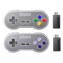 8bitdo – manette de jeu sans fil SF30, avec récepteur NES 2.4 ghz, pour Android, PC et Mac, nouveauté