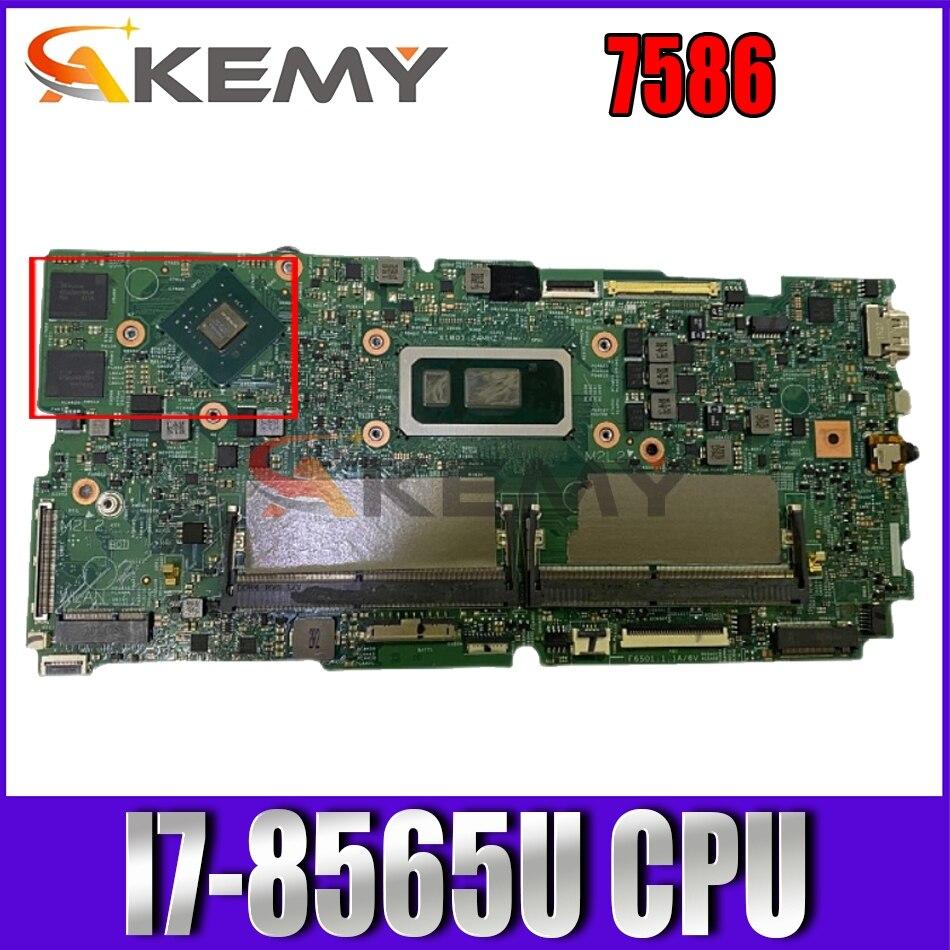 Akemy 17936-1 مع I7-8565U CPU PM لديل انسبايرون 7586 دفتر اللوحة الرئيسية K60J8 7586 اللوحة اختبار 100% ok