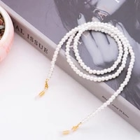 white pearl glasses chain for women sunglass reading eyeglasses chain cord holder rope fashion reading glasses chain jewelry