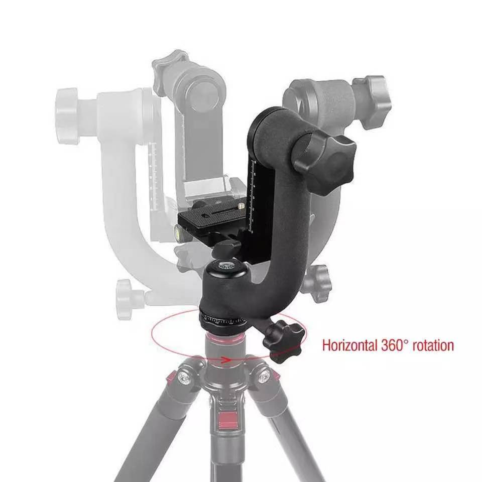 Heavy Duty Metal Panoramic Gimbal Tripod Head Use for Arca-Swiss Standard Quick Release Plate Aluminum Alloy for DSLR enlarge