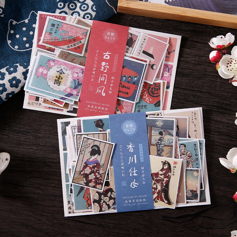 AliExpress - 40 pcs/lot Japanese style Stickers pack in notebook Decorative collage Scrapbooking Diary aesthetic stationery Sticker Paper