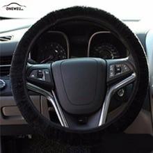 Fashion Fur Plush Folding Type Car Steering Wheel Cover For Common Cars Autumn Winter