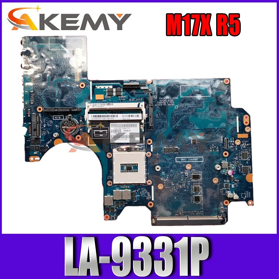 Akemy العلامة التجارية الجديدة لأجهزة الكمبيوتر المحمول DELL Alienware M17X R5 اللوحة الأم VAS00 LA-9331P CN-02XJJ7 2XJJ7 اللوحة الرئيسية 100% اختبارها