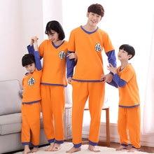 2020 dragon ball família pijamas conjunto roupa de natal pijamas mãe e me roupas mãe filha sun wukong família roupas