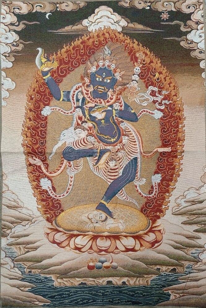 ibet antique buddha meditation thangka silk brocade tibetan buddha 36 Tibet Tibetan Embroidered  Cloth Silk Buddhism Vajrayogini Tangka Thangka Mural Buddha Home Decor