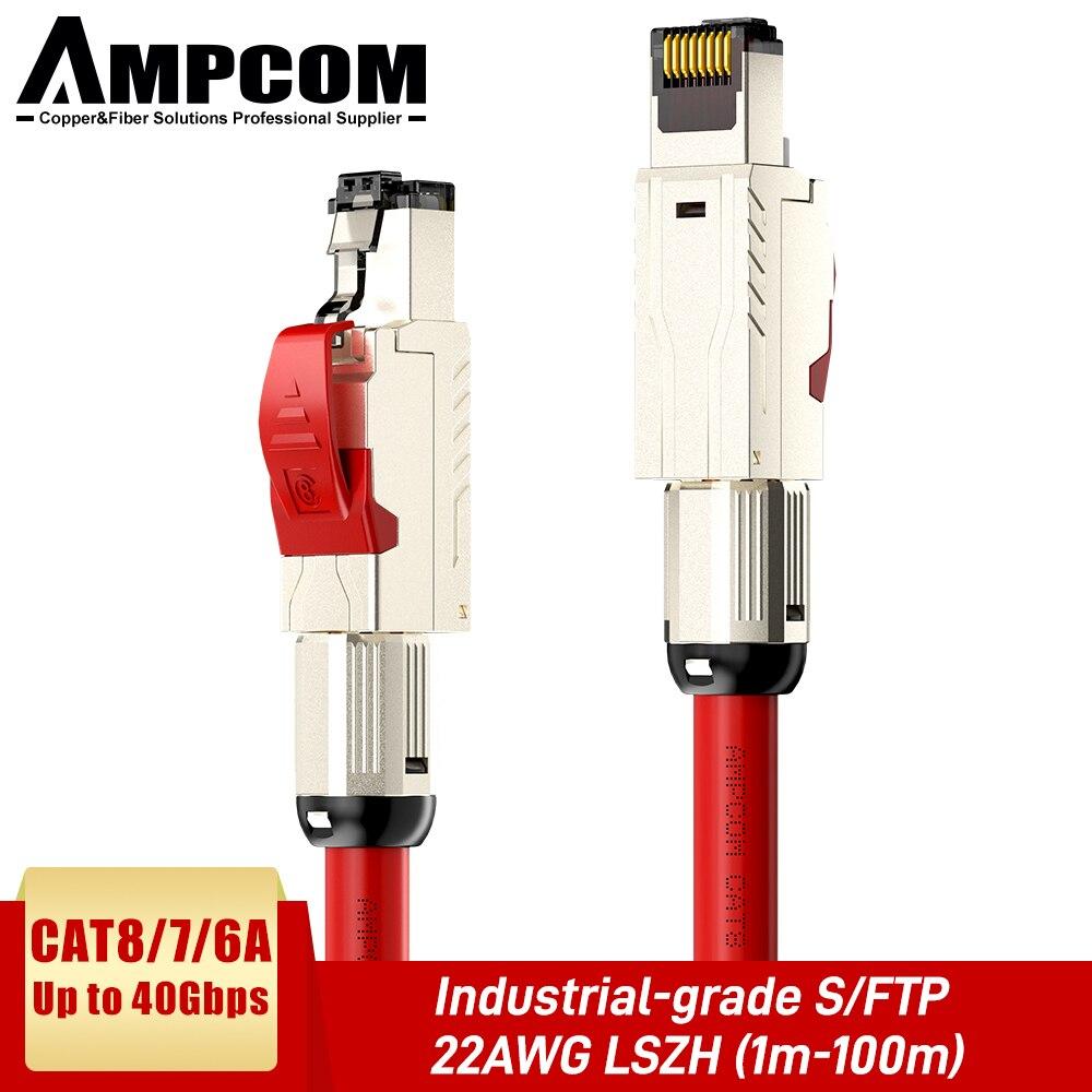 AMPCOM Cat8 Cat7 Ethernet Cable de parche S/FTP 22AWG apantallado de Cable...